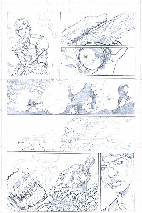EDEN #1, pg 23 (Original Pencils)