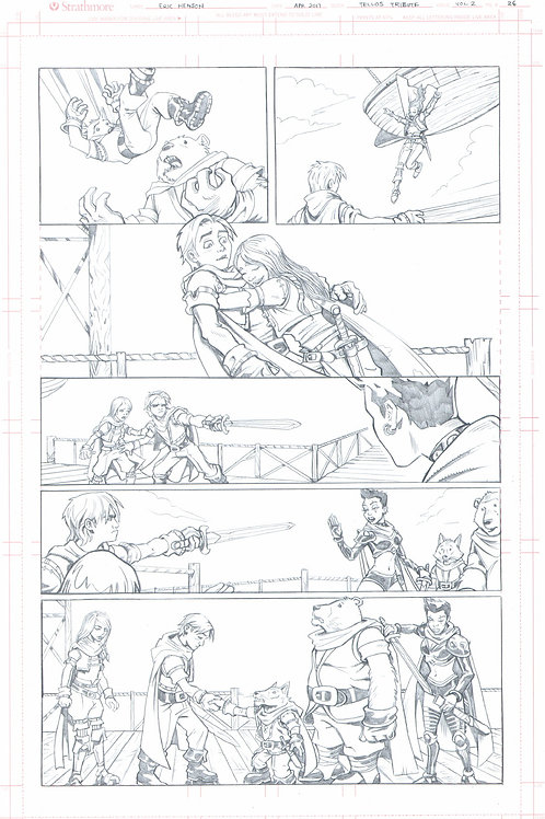Original Pencils- The Miker Wieringo TELLOS Tribute: Vol 2, pg 77