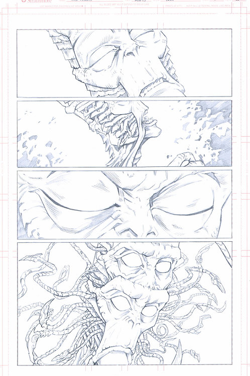 EDEN #1, pg 25 (Original Pencils)- 1st Appearance of Kla'Tuu's Tentacles