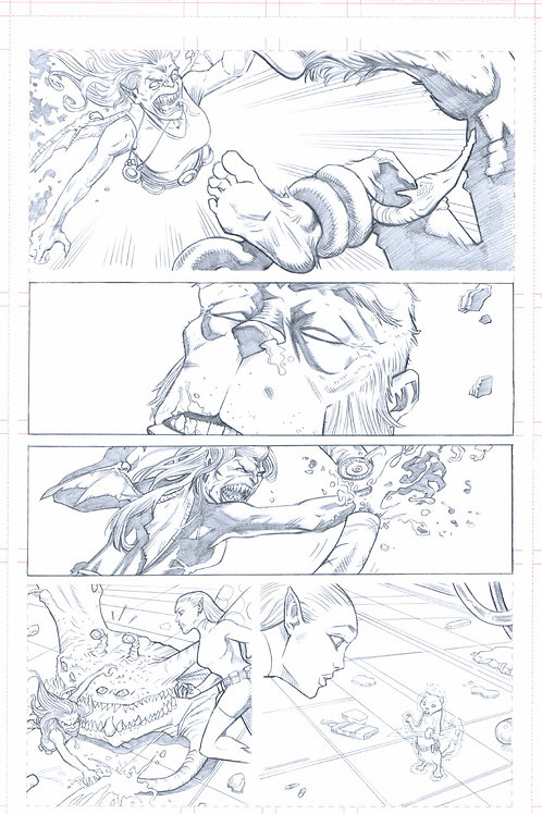 Original Pencils- Perhapanauts DDU #5, pg 17