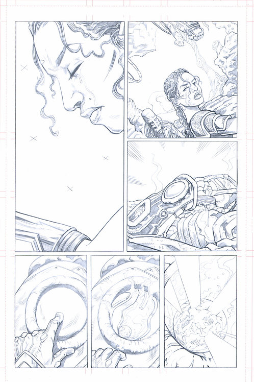 EDEN #1, pg 28 (Original Pencils)