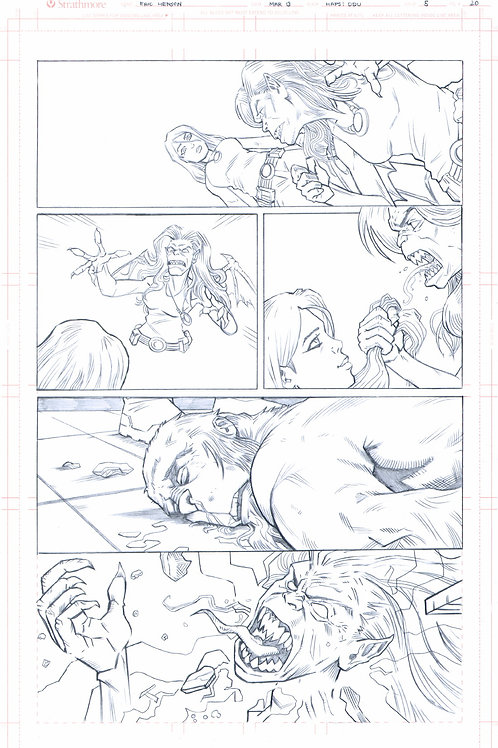 Original Pencils- Perhapanauts DDU #5, pg 20