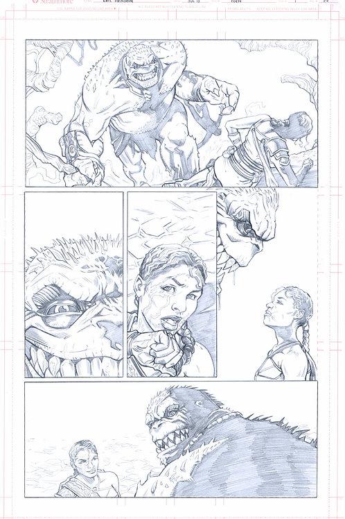 EDEN #1, pg 22 (Original Pencils)