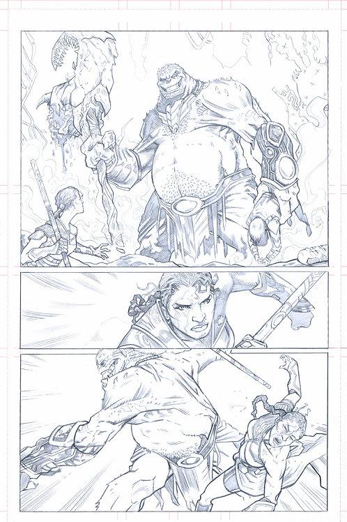 EDEN #1, pg 21 (Original Pencils)- 1st Appearance of RENO!