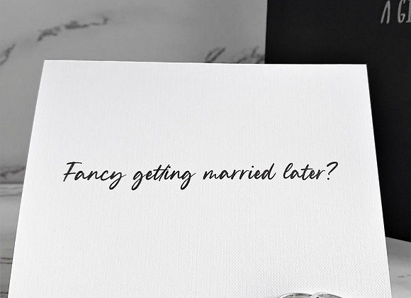 Fancy getting married later? To the groom card