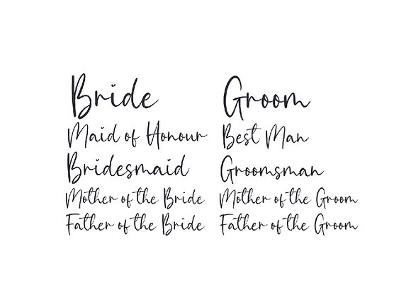 Ultimate Bride/Groom Bundle Labels