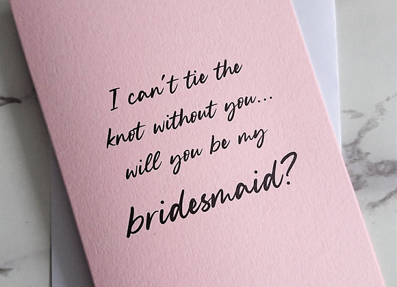 Can't tie the knot without you proposal cards, Pale Pink