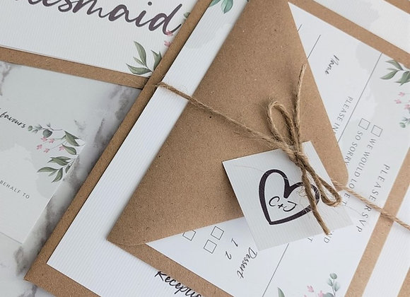 Katie Collection | Ribbon Tied Wedding Invitations