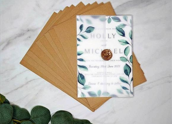 Sadie Suite | Vellum Wedding Invitation
