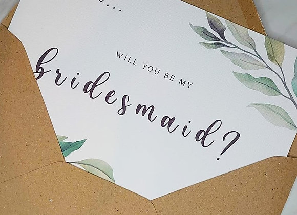 Bridal Party Proposal Card
