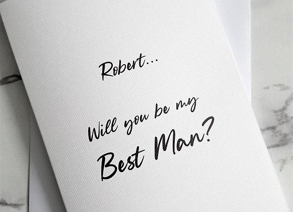 Personalised Best Man/Groomsmen Proposal Card