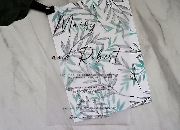 Foliage Collection | Vellum Wedding Invitations