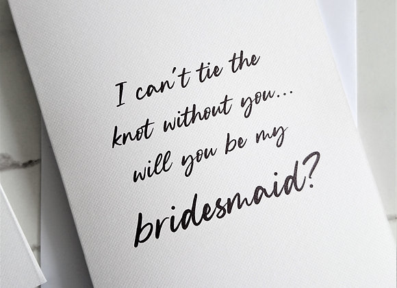 Can't tie the knot without you proposal cards, White