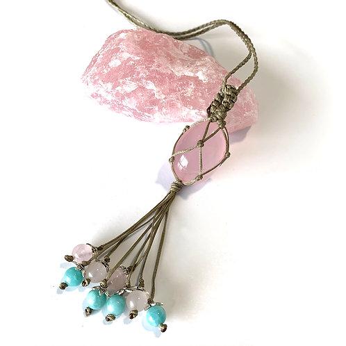 Rose Quartz and Amazonite Necklace