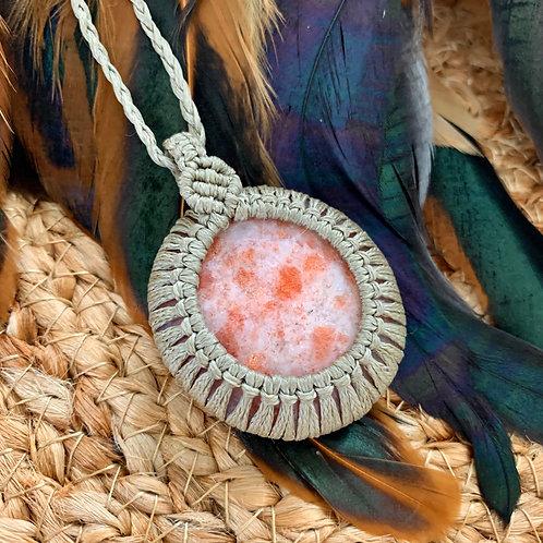 Sunstone Macrame Necklace