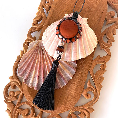 Jasper and Red tigers Eye Necklace