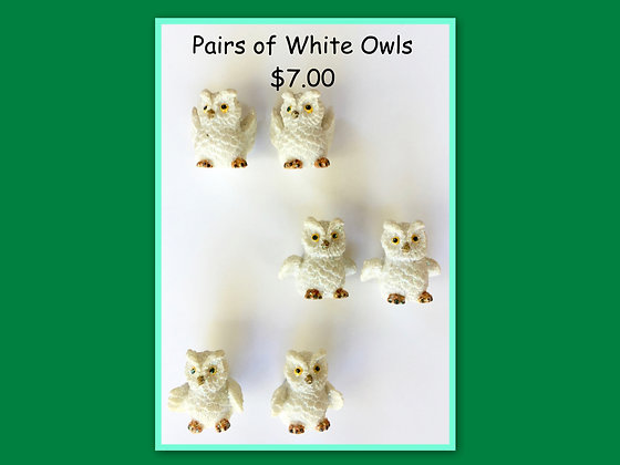 Miniature Pack: Owls White