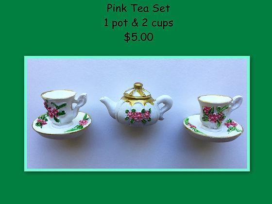 Miniature Set: Pink Tea Set