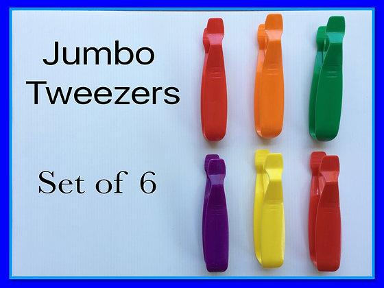 Jumbo Tweezers: Set of 6