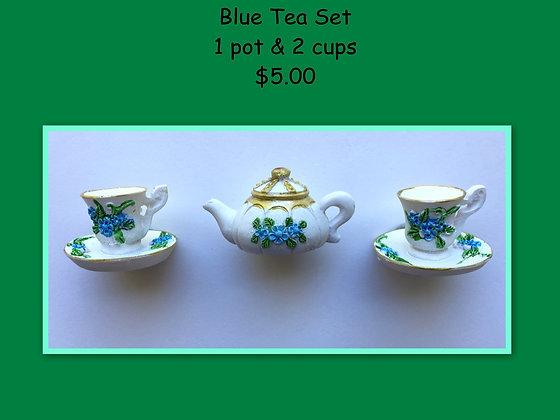 Miniature Set: Blue Tea Set