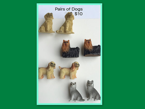 Miniature Packs: Dogs for Barrier Games and Sand Play