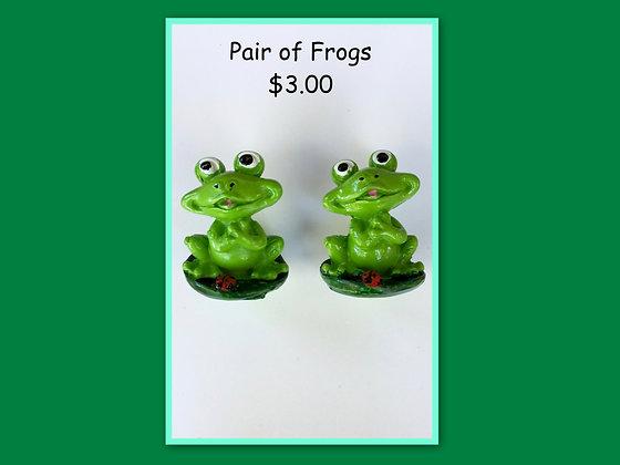 Miniature Pack: Frog on Leaf