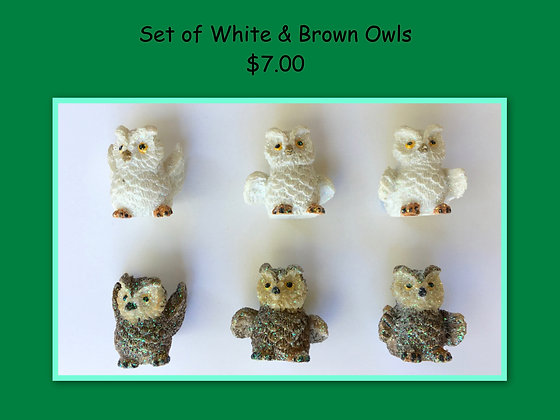 Miniature Set: Owls mixed