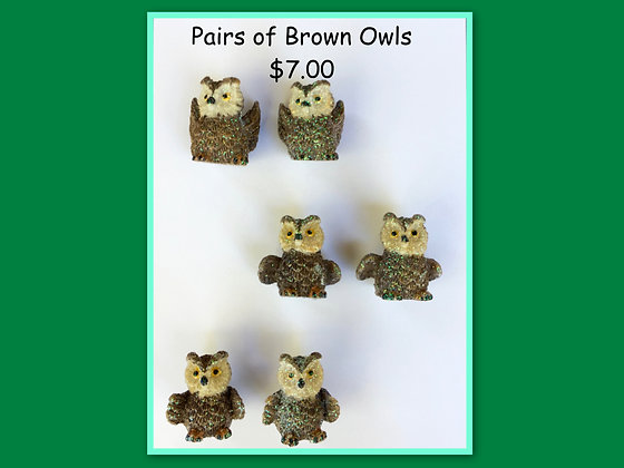 Miniature Pack: Owls brown