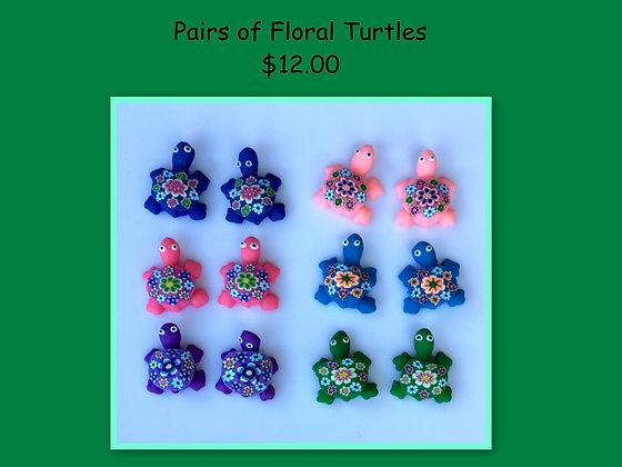 Miniature Pack: Floral Turtles