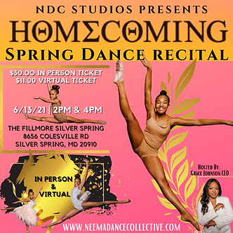 NDC Homecoming IN-PERSON Recital Ticket