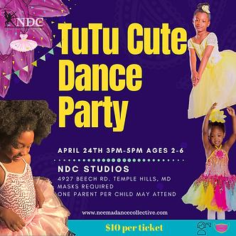 TuTu Cute Dance Party Ticket