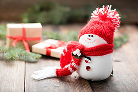 snowman smile for happy new year with Moppet dolls fabric dolls Handmade