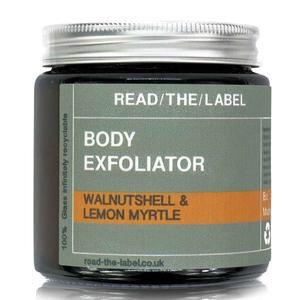 Read-The-Label ORGANIC WALNUT AND LEMON MYRTLE BODY SCRUB 100g