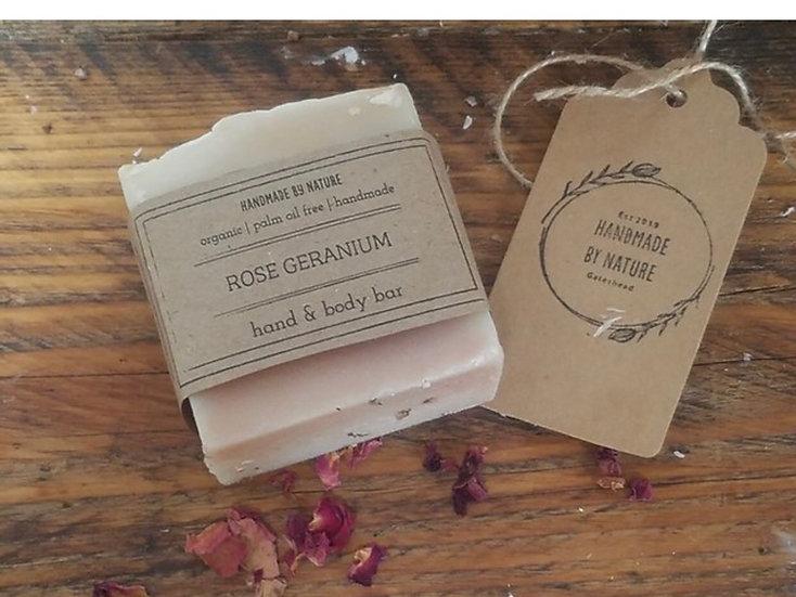 Handmade Rose Geranium Hand & Body Bar 100g