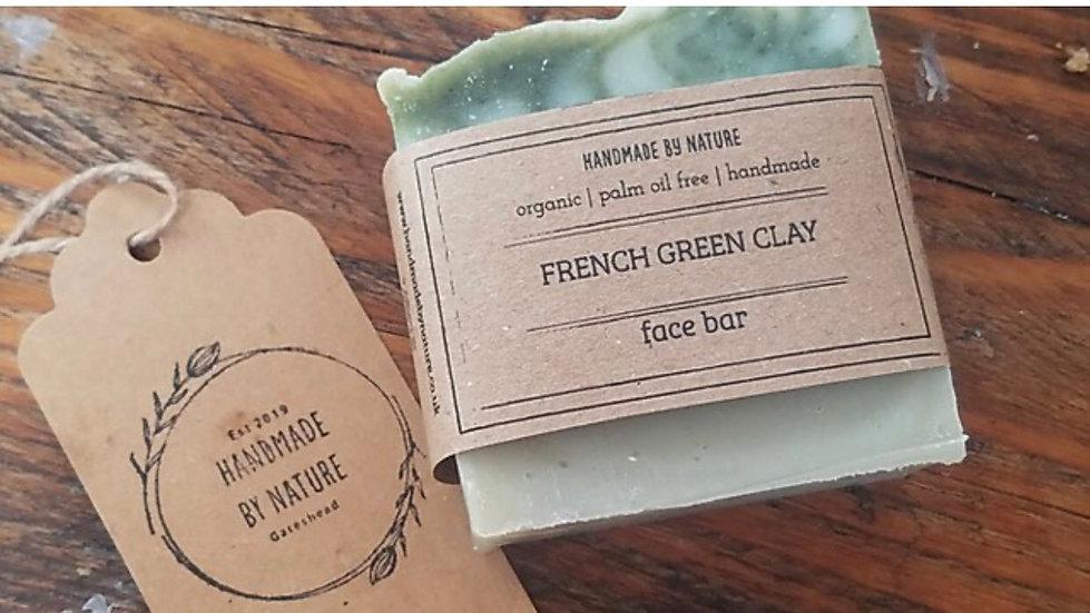 Handmade Natural French Green Clay Face Bar 50g