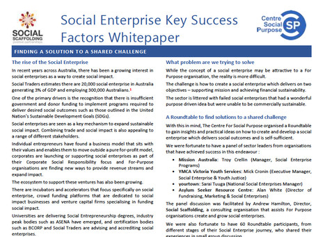 The Challenge with Social Enterprise