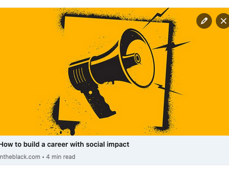 How to build a career with social impact