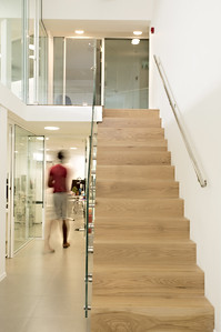 Glass Staircase in Office