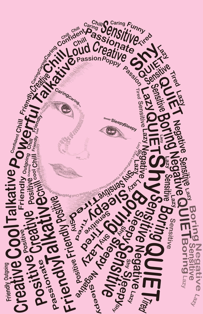 Typography Self Portrait