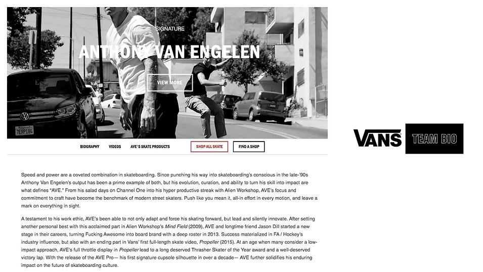 VANS Anthony Van Engelen