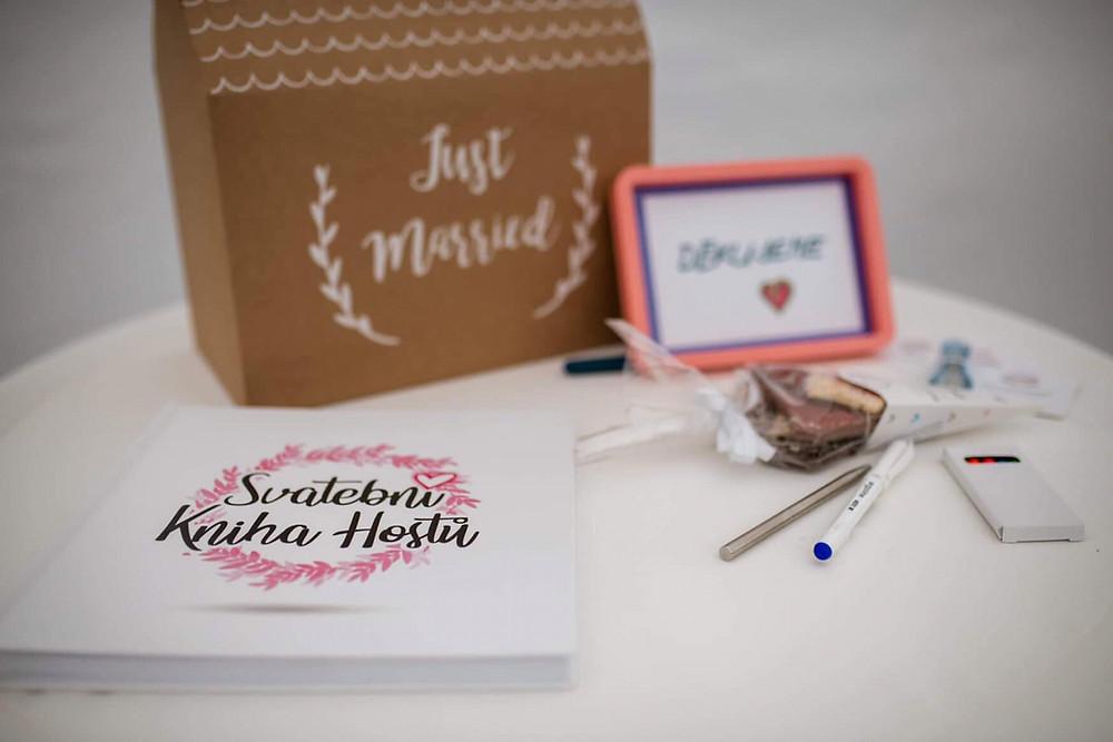 Svatební kniha hostů - ukázka ze svatby