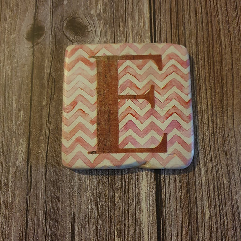 Alphabet Letter Coaster 'E'