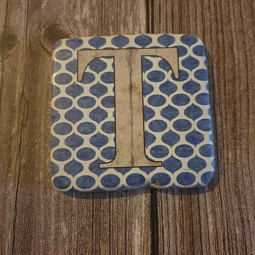 Alphabet Letter Coaster 'T'