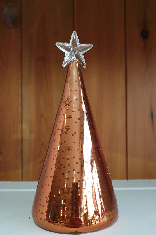 Copper Light up Glass Tree