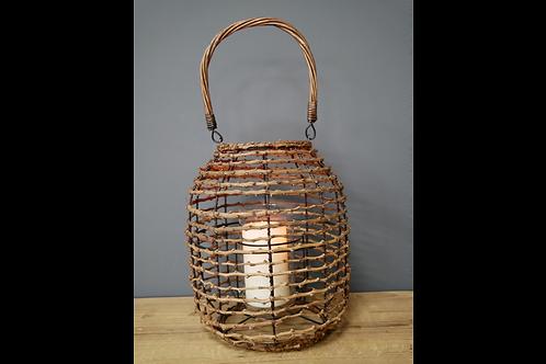 Wooden Effect Lantern