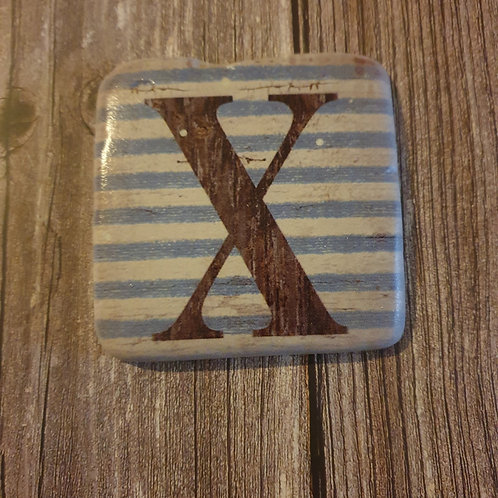 Alphabet Letter Coaster 'X'