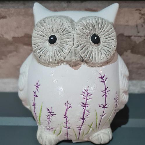 Lavender Owl Ornament