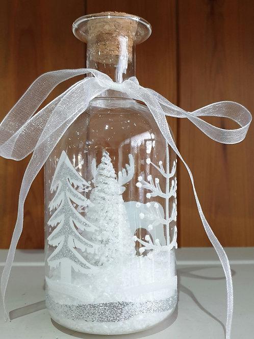 LED Snow Effect Bottle Decoration