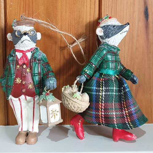 Mr and Mrs Badger