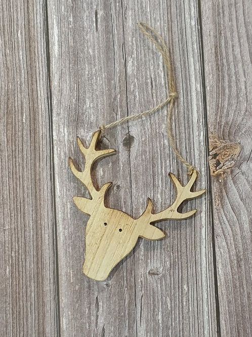Hanging Wooden Stag